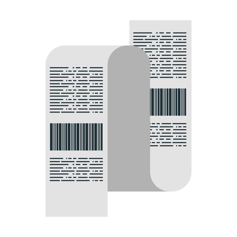shopping kvitto ikon vektor