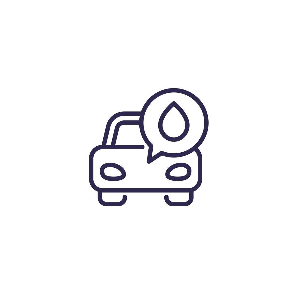 olja och bil ikon på vit vektor