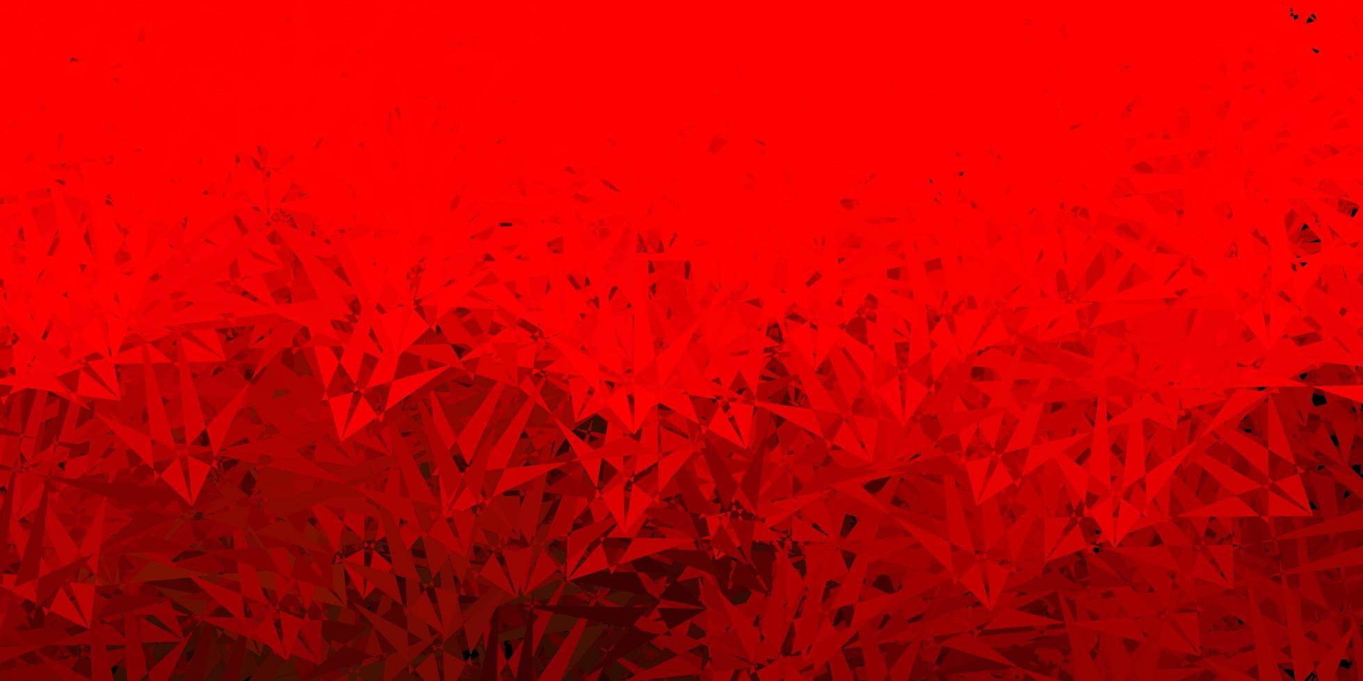 mörk röd mall med triangelformer. vektor