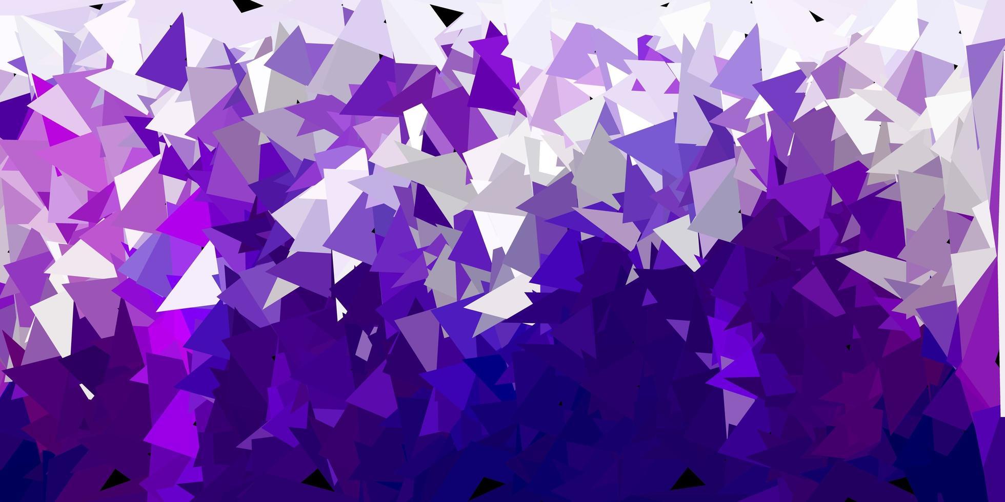 mörk lila poly triangel konsistens. vektor