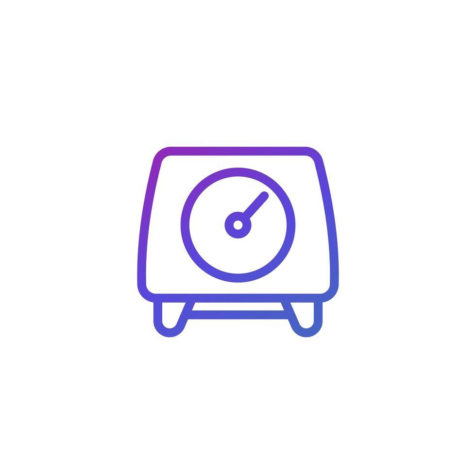 mätare ikon på vitt vektor