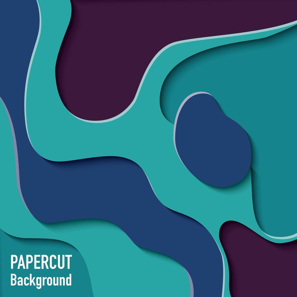 Papierausschnitt Hintergrund mit 3D-Effekt vektor