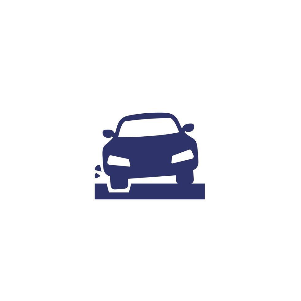 grophålsikon med en bil vektor