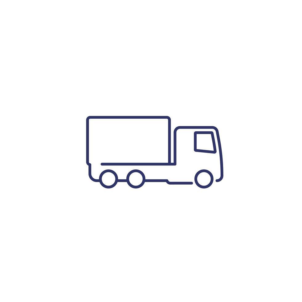 lastbil eller lastbil ikon vektor