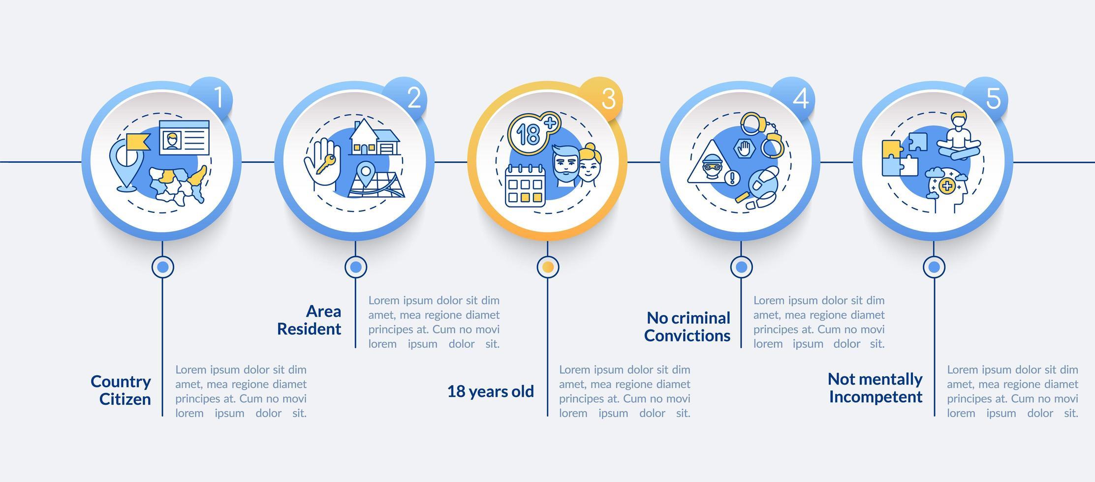 online-omröstningar infographic mall vektor