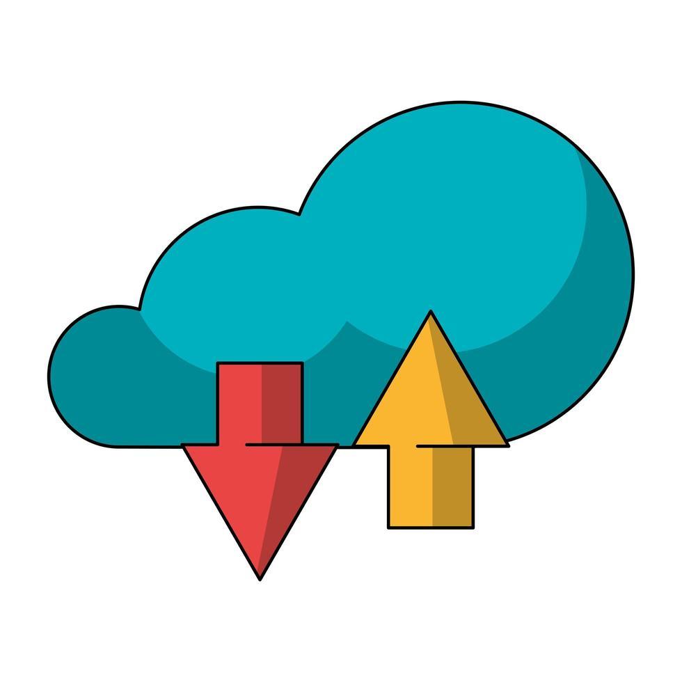 cloud computing-teknik symbol isolerad vektor