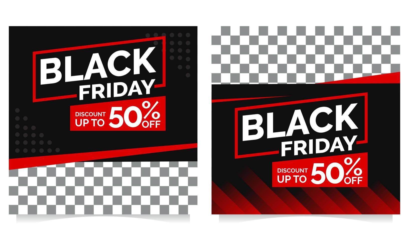 schwarzer Freitag Post Sammlung Vorlage vektor