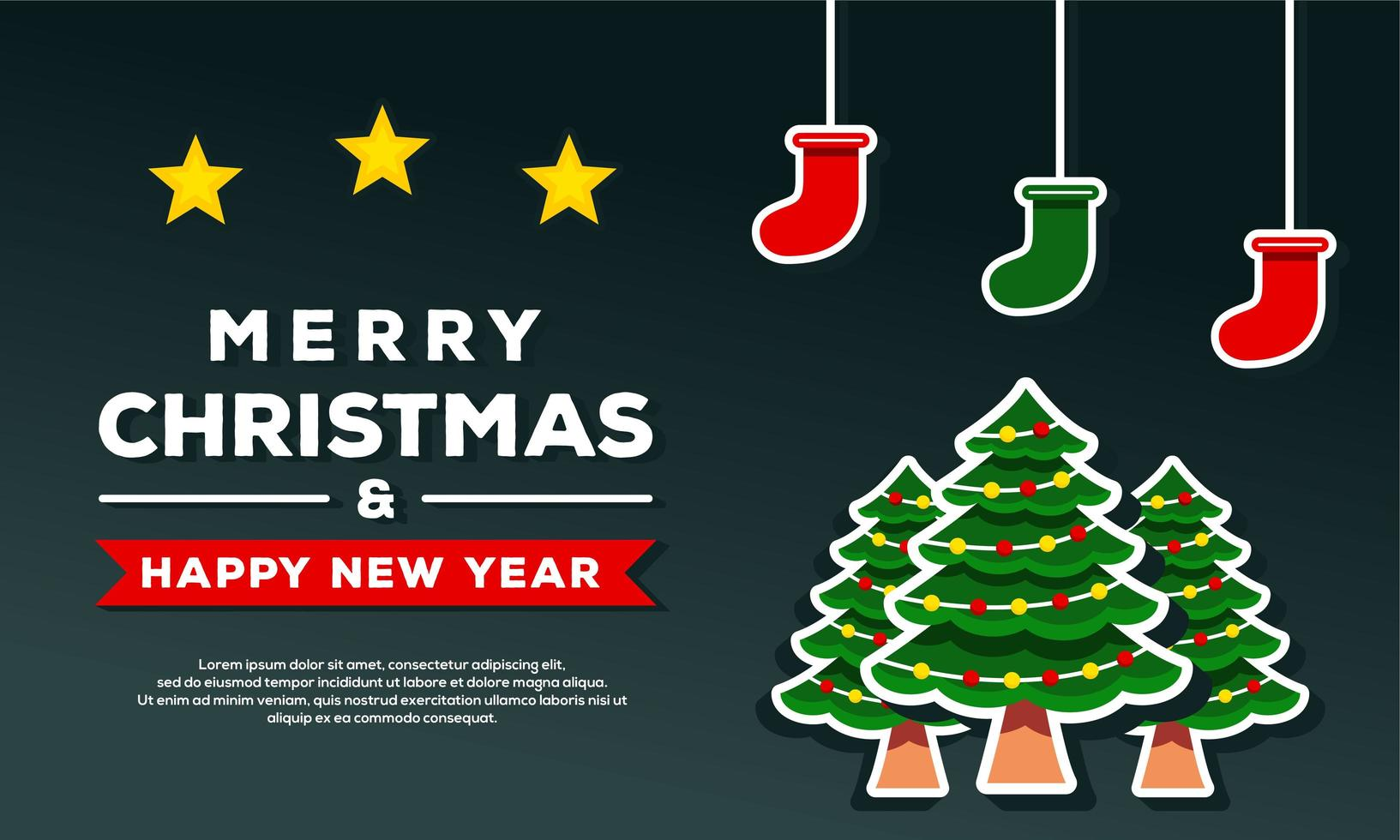 god jul och gott nytt år bakgrund vektor