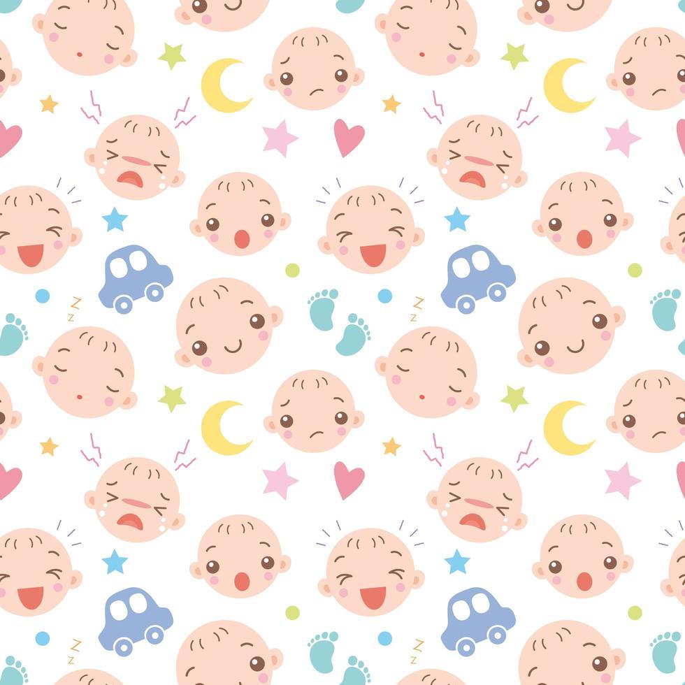 baby ansiktsuppsättning vektor