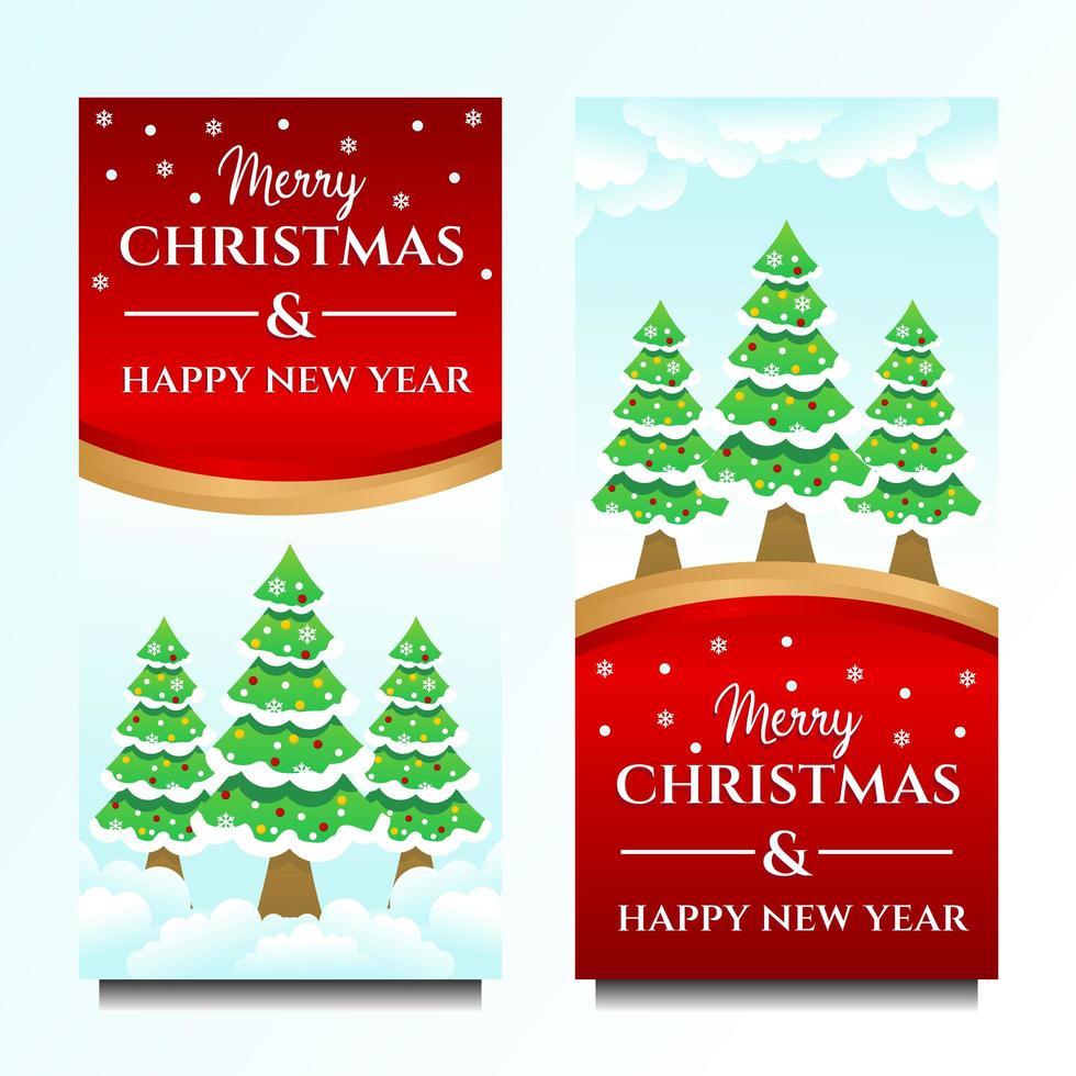 god jul och gott nytt år banner mall vektor