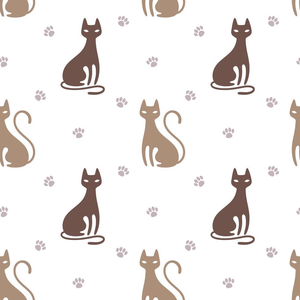 mönster med katt vektor