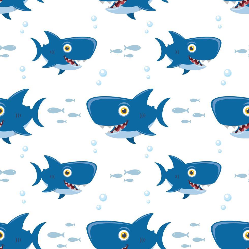 mönster med haj vektor