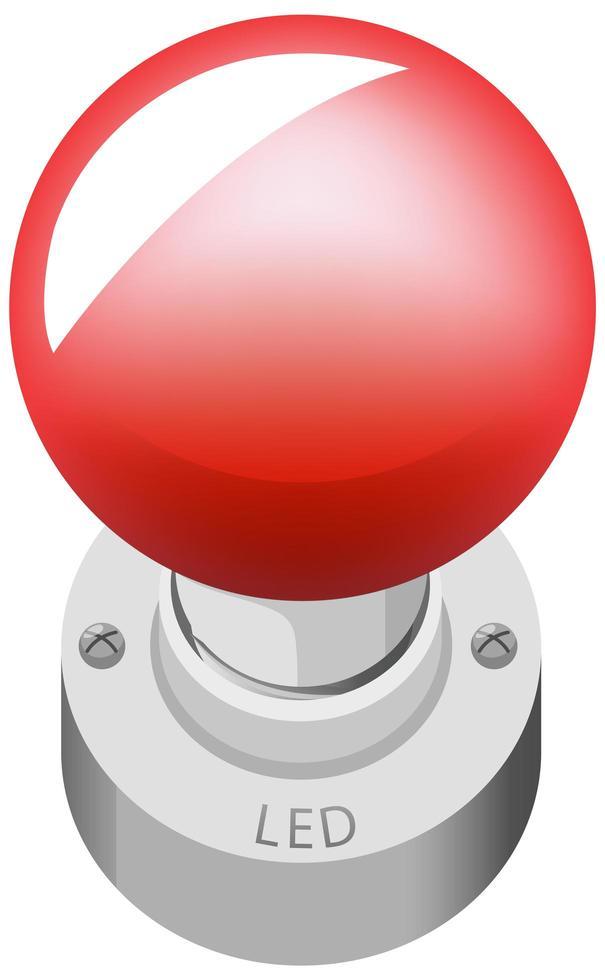 LED-Objekt-Cartoon-Stil lokalisiert auf weißem Hintergrund vektor