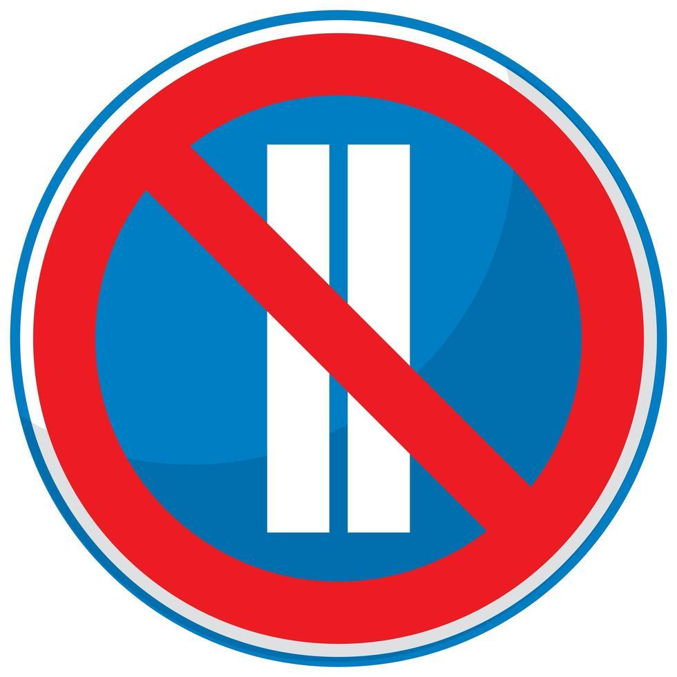 parkering förbjuden på jämna dagar isolerad på vit bakgrund vektor