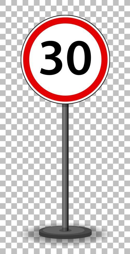 rotes Verkehrszeichen auf transparentem Hintergrund vektor