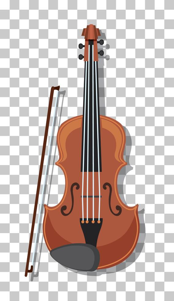 klassische Geige isoliert auf transparentem Hintergrund vektor