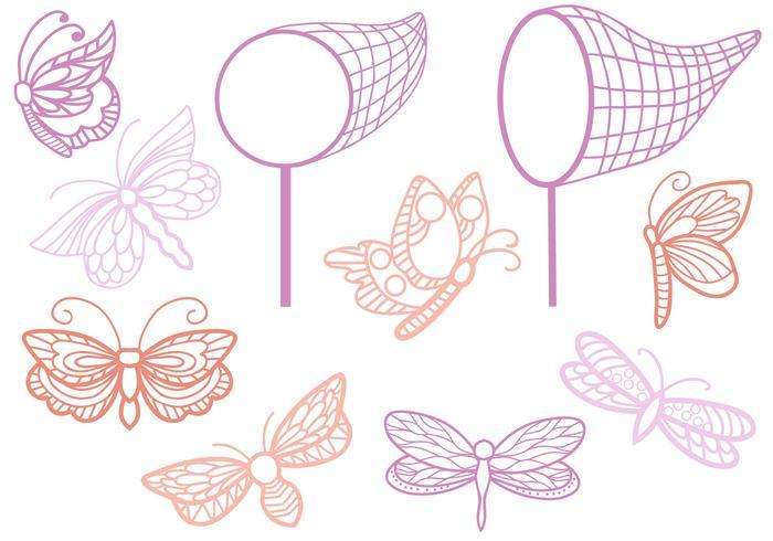 Kostenlose Schmetterlings Vektoren