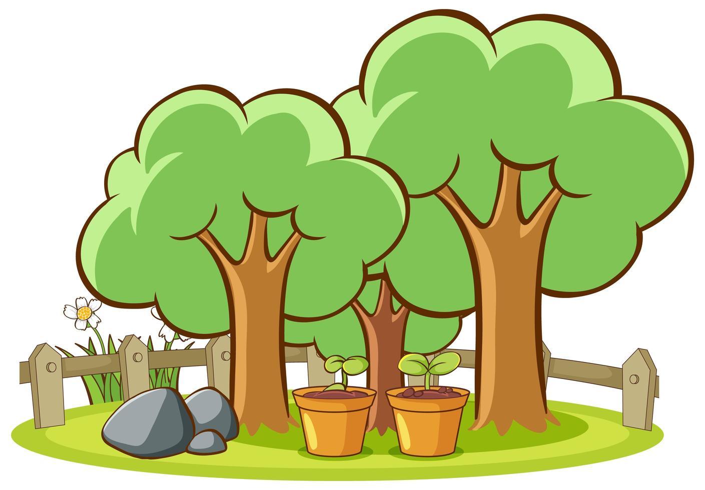 isolerad bild av träd i parken vektor