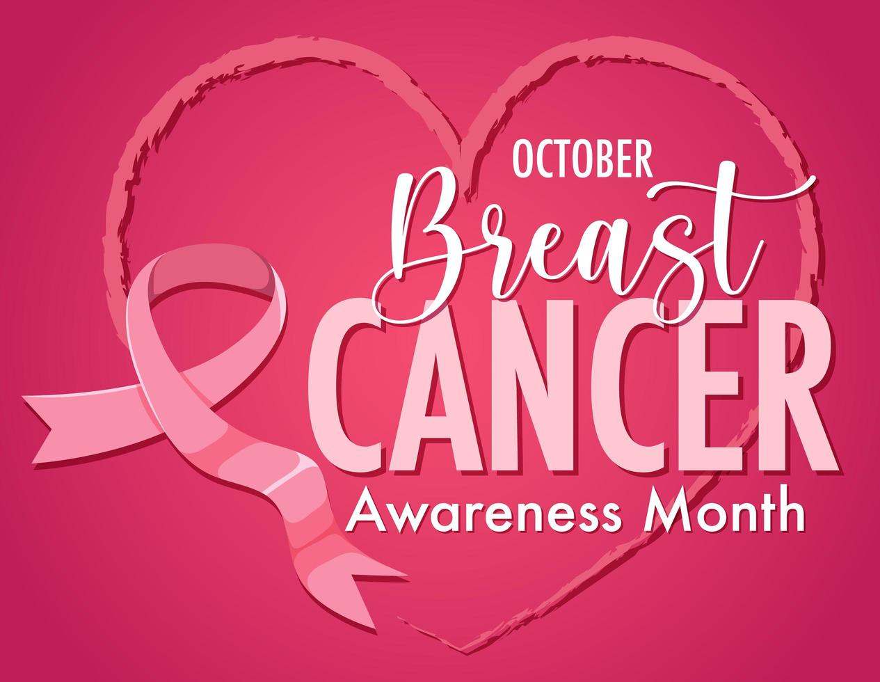 Brustkrebs-Bewusstseinsmonatslogo vektor