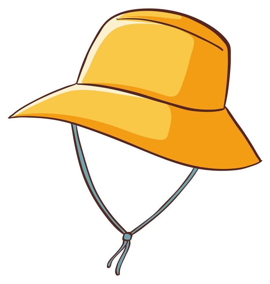 gelber Hut auf weißem Hintergrund vektor