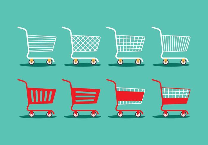 Einkaufswagen vektor