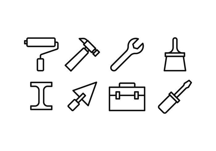 Bau Icon Set vektor