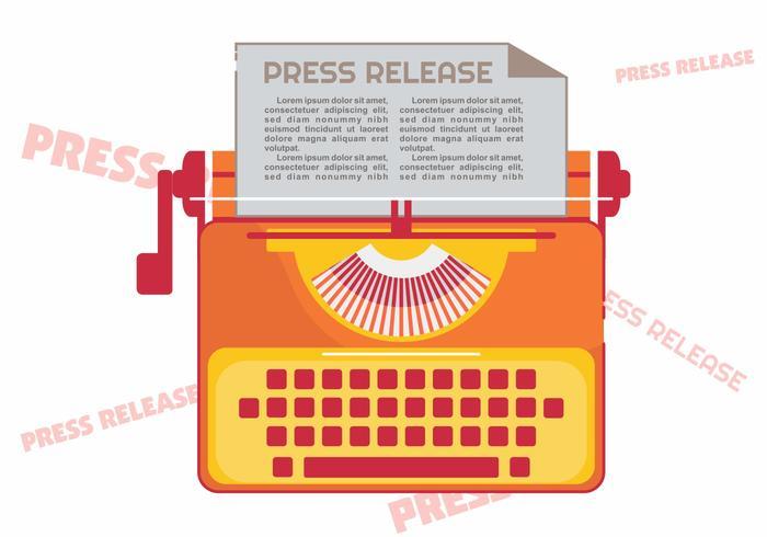 Pressemitteilung vektor
