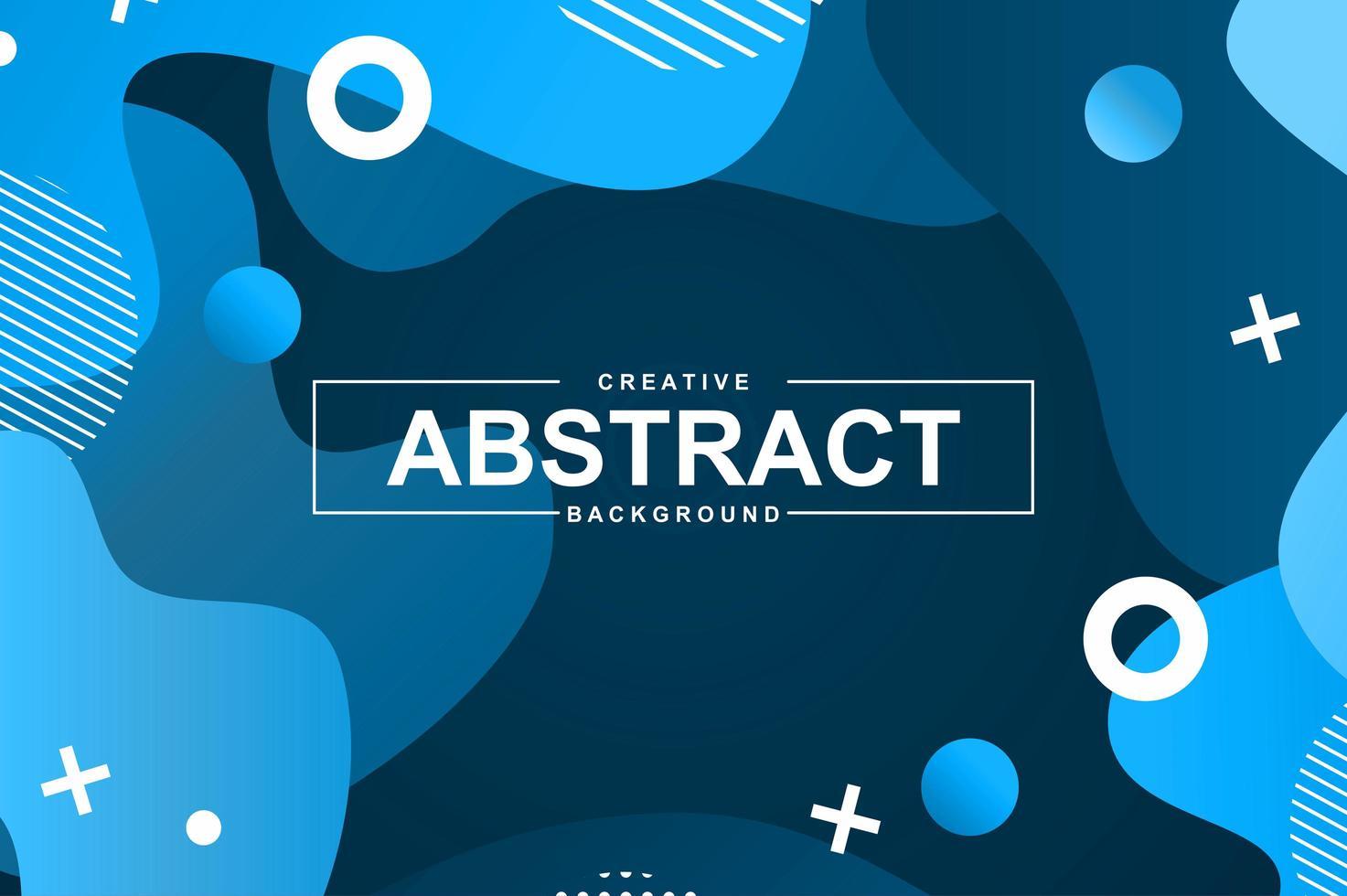 abstrakt design med blå flytande lutningsformer vektor