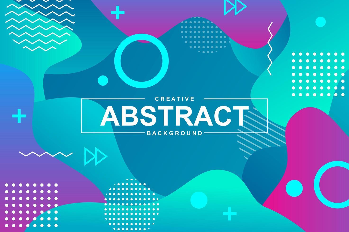 abstrakt design med dynamiska flytande former vektor