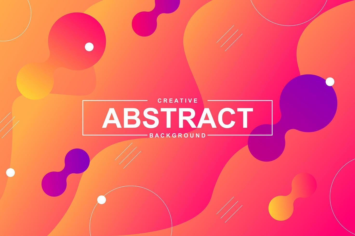 abstraktes Design mit dynamischen flüssigen Formen vektor