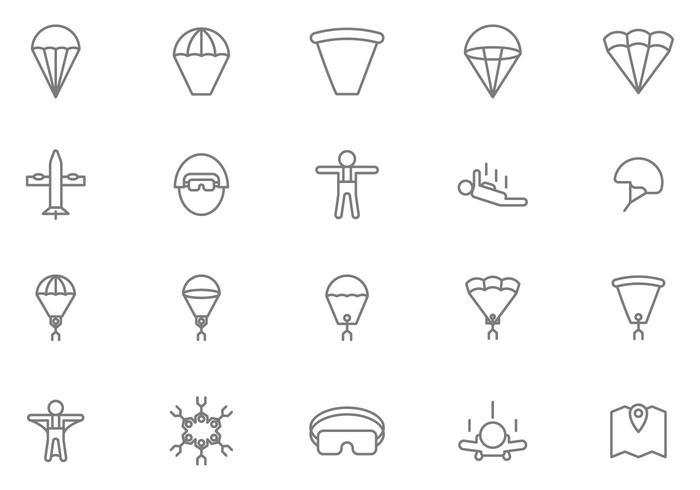 Gratis Skydiving Vectors