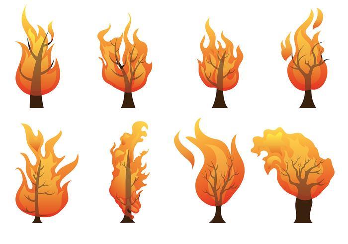Brennende Bush-Vektor-Icons vektor