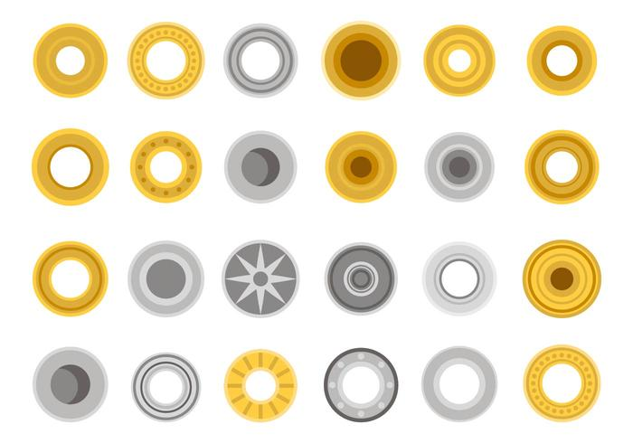 Freie Metall Zubehör Icons Vektor