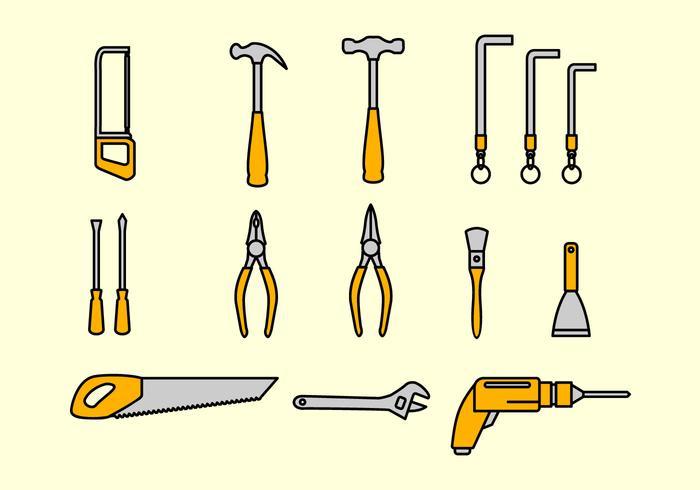 Arbetsverktyg Ställ in vektor