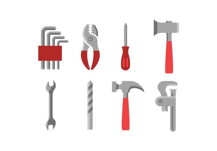 Hårdvara verktyg ikoner vektor