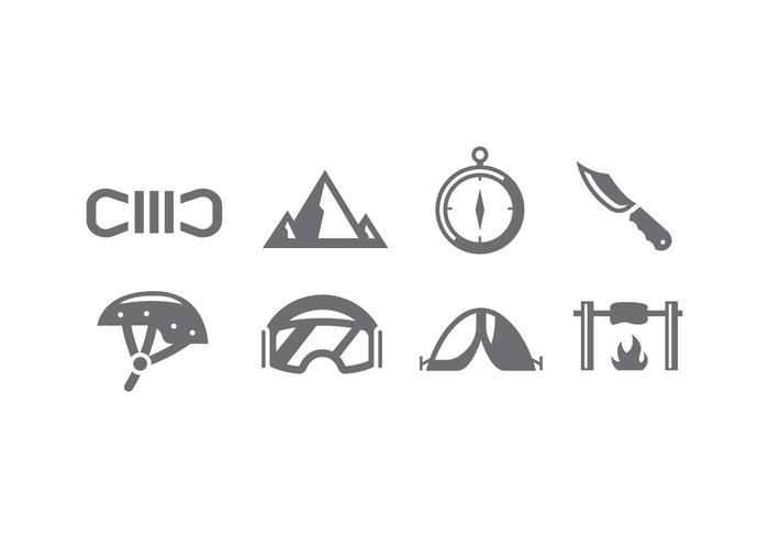 Alpinistverktyg ikon vektor