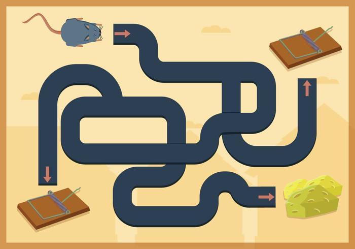 Free Mouse Trap Labyrinth Spiel Vektor
