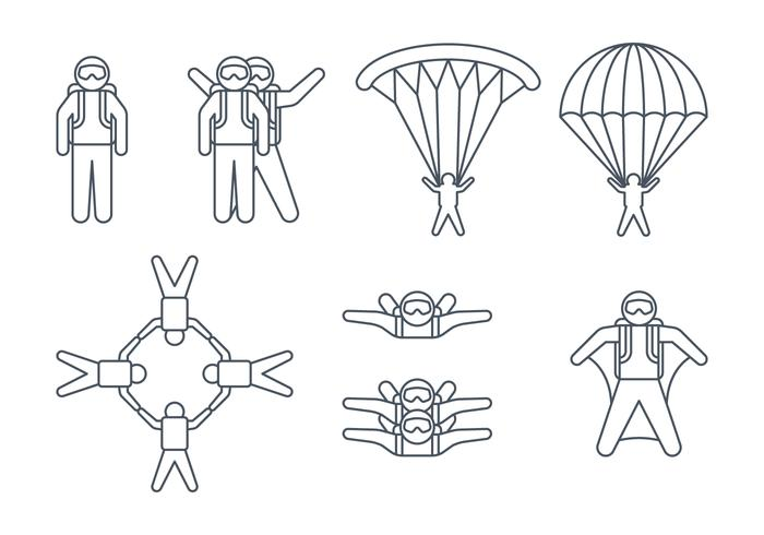 Skydiver Symbole vektor