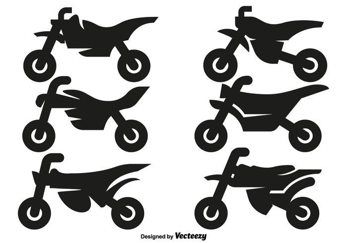 Vektor Motocross Motorrad Icons