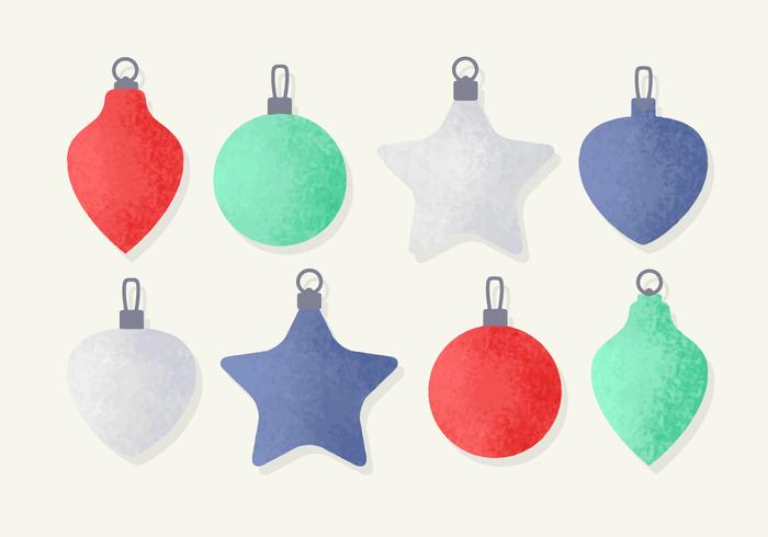 Free Christmas Baubles Dekorationen vektor