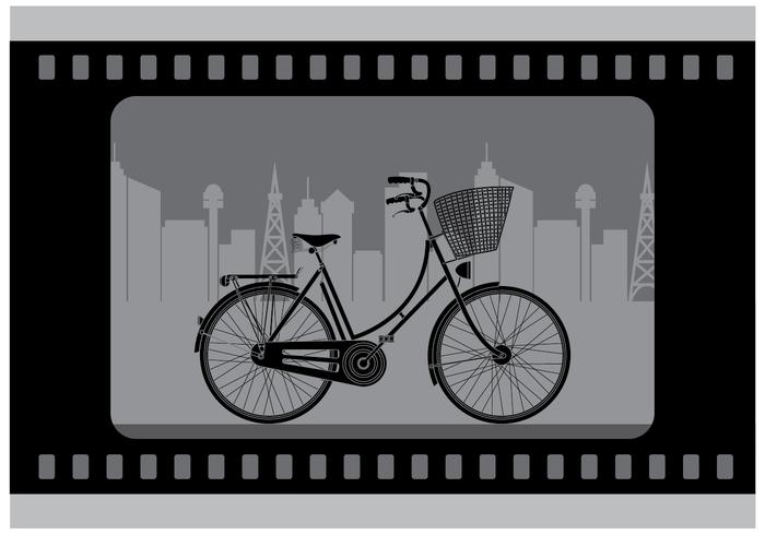 Gratis Silent Bicycle Film Vector