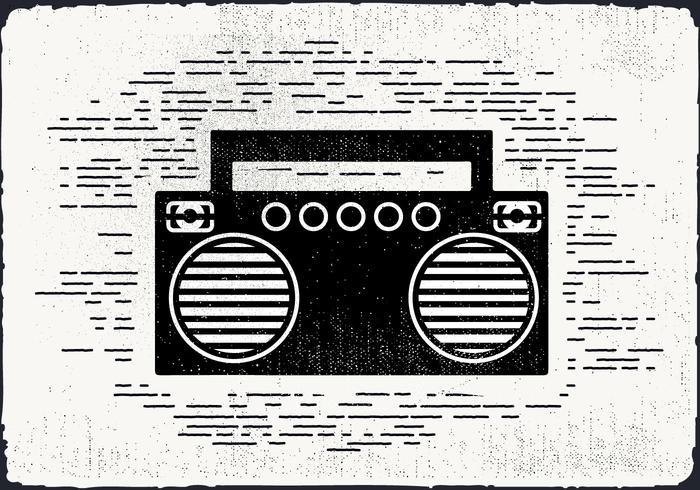 Gratis Vintage Musikspelare Vektorillustration vektor