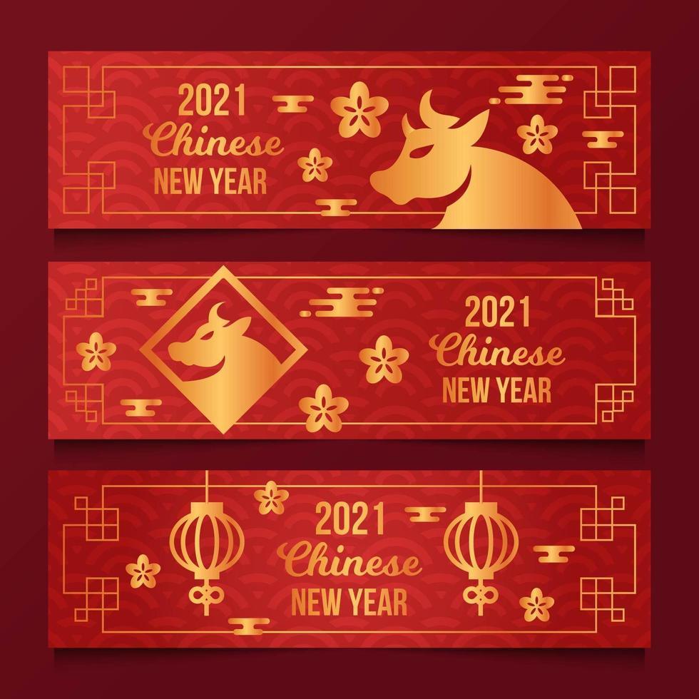 kinesiskt nyår banner vektor
