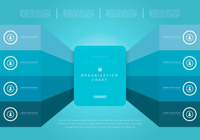 Organisationskarta, företagsstruktur vektor