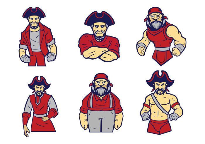 Freier Piraten-Logo-Vektor vektor