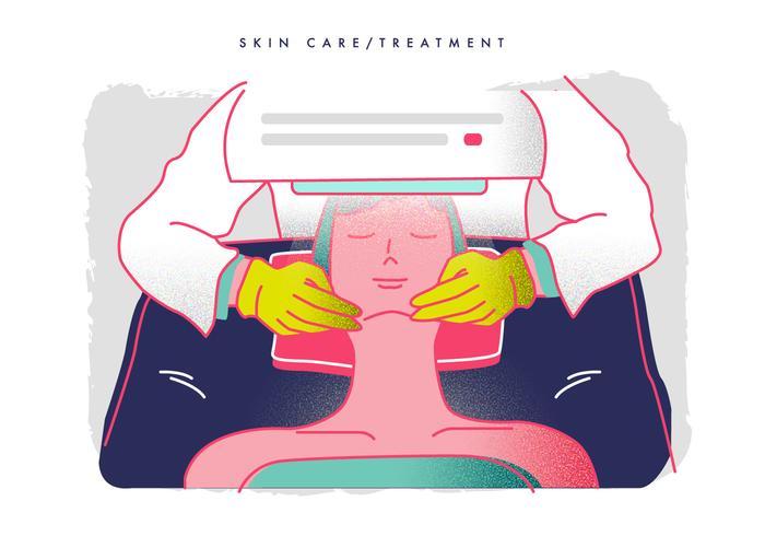 Hautpflege Behandlung von Dermatologe Vektor-Illustration vektor