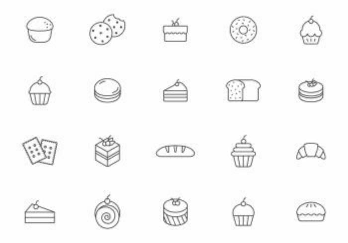 Bäckerei und Gebäck Vektoren