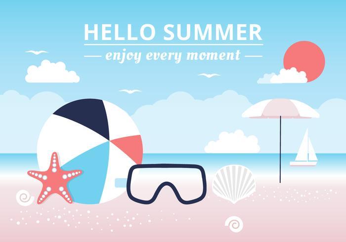 Kostenlose hallo Sommer Vektor Hintergrund
