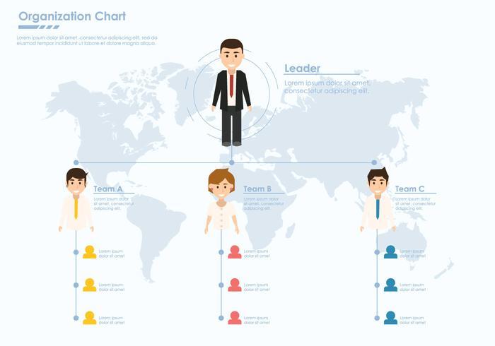 Företagsorganisationsdiagram vektor