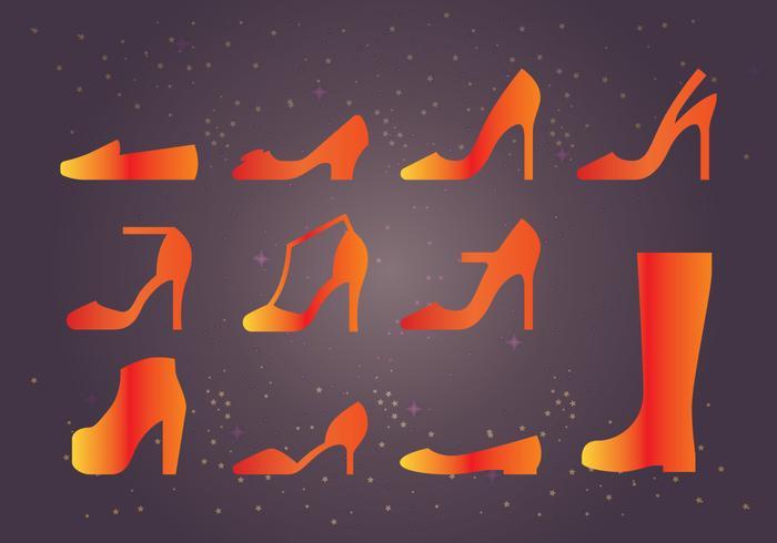 Frauen Schuhe vektor
